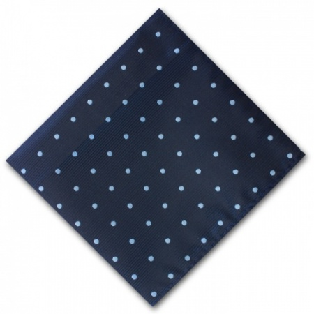 Navy Blue Spotted Pocket Square